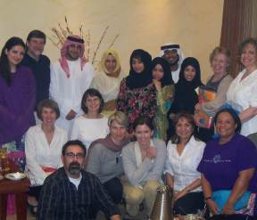 Qatari family hosted our group for dinner